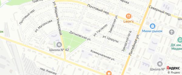 Улица Гастелло на карте Брянска с номерами домов