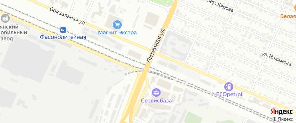 Литейная улица на карте Брянска с номерами домов