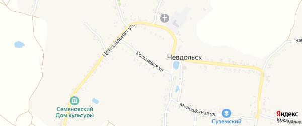 Кольцевая улица на карте села Невдольска с номерами домов