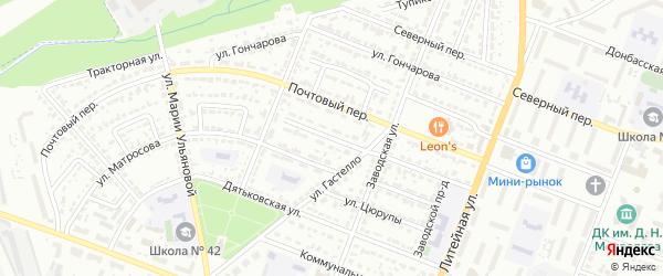 Улица Зои Космодемьянской на карте Брянска с номерами домов