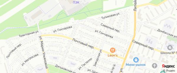 Улица Лизы Чайкиной на карте Брянска с номерами домов