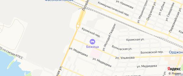 Территория ГО Болховская 65-67 на карте Брянска с номерами домов
