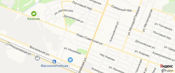 Территория ГО Ново-Советская 130А на карте Брянска с номерами домов