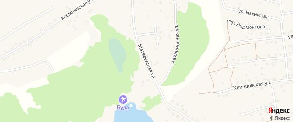 Матвеевская улица на карте деревни Буды с номерами домов