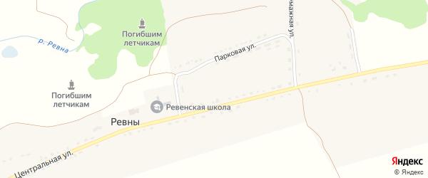 Лесная улица на карте села Ревны с номерами домов