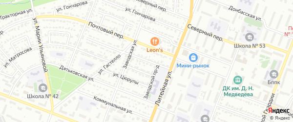 Школьный переулок на карте Брянска с номерами домов