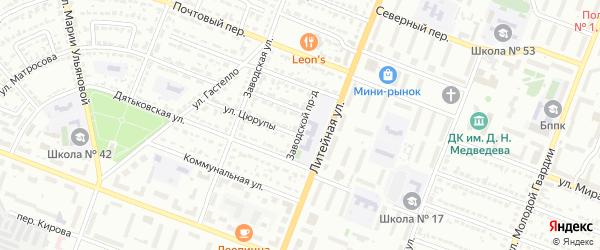 Заводской проезд на карте Брянска с номерами домов