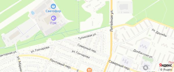 Тупиковая улица на карте Брянска с номерами домов