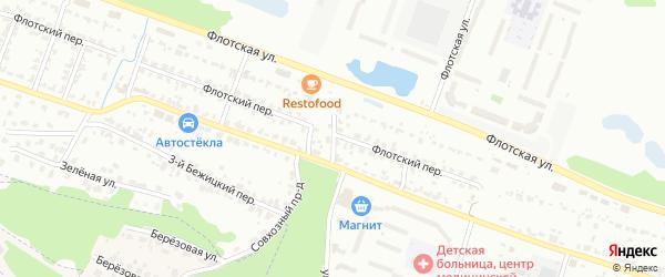 Овражный проезд на карте Брянска с номерами домов