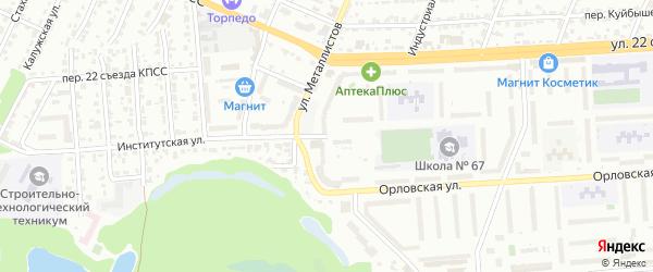 Институтская улица на карте Брянска с номерами домов