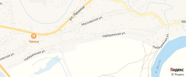 Набережная улица на карте села Супонево с номерами домов