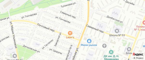 Улица Олеко Дундича на карте Брянска с номерами домов