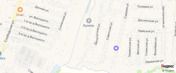 1-й Депутатский переулок на карте поселка Кузьмино с номерами домов