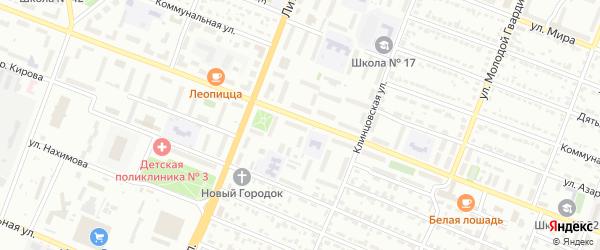 Территория ГО Ново-Советская 83 на карте Брянска с номерами домов