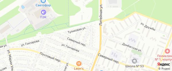 Заводской переулок на карте Брянска с номерами домов