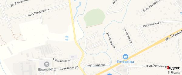 2-я Антоновская улица на карте села Супонево с номерами домов
