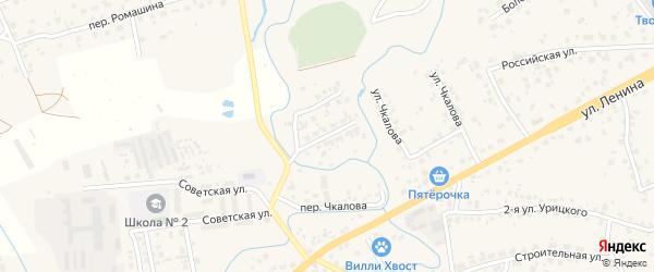 1-я Антоновская улица на карте села Супонево с номерами домов