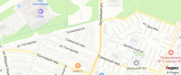 Тупиковый переулок на карте Брянска с номерами домов