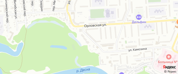 Мининская улица на карте Брянска с номерами домов