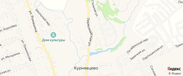 Первомайская улица на карте деревни Курнявцево с номерами домов