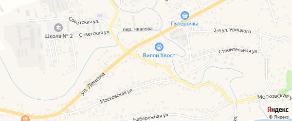 1-й Ленинский переулок на карте села Супонево с номерами домов
