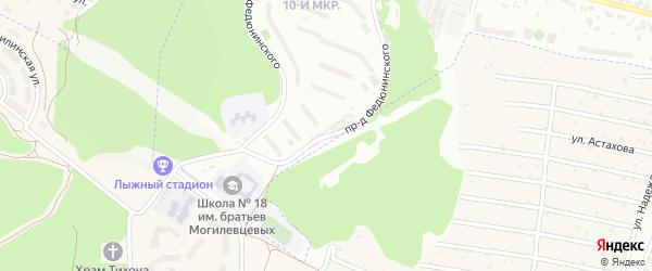 Территория ГО проезд Федюнинского на карте Брянска с номерами домов