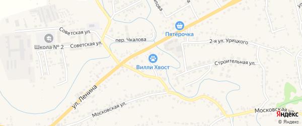2-й Ленинский переулок на карте села Супонево с номерами домов