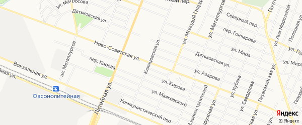 ГО Ново-Советская территория на карте Брянска с номерами домов