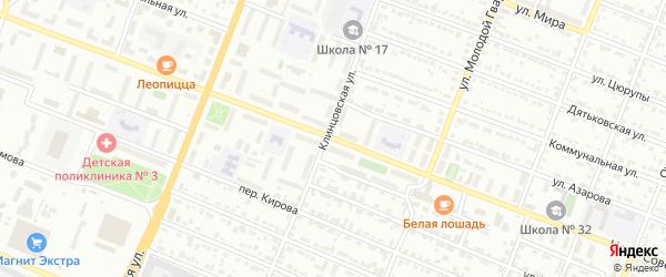 Ново-Советская улица на карте Брянска с номерами домов
