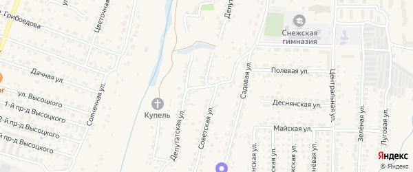 Депутатская улица на карте поселка Кузьмино с номерами домов