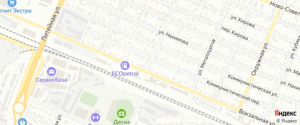 Улица Молодой Гвардии на карте Брянска с номерами домов