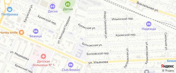 Кромской переулок на карте Брянска с номерами домов