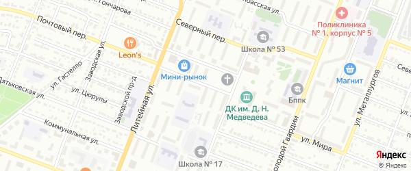 Почтовый переулок на карте Брянска с номерами домов