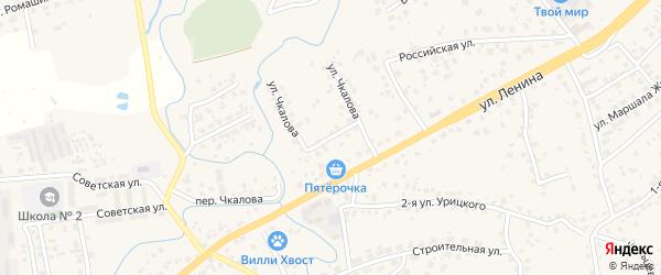 Улица Чкалова на карте села Супонево с номерами домов