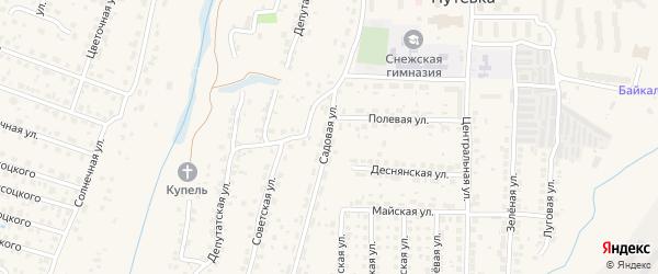 Садовая улица на карте поселка Путевки с номерами домов
