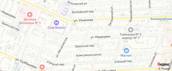 Индустриальная улица на карте Брянска с номерами домов