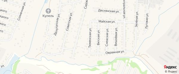 Тюменская улица на карте поселка Путевки с номерами домов