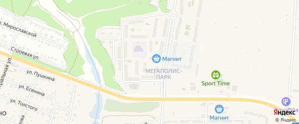 Микрорайон Мегаполис-парк на карте поселка Путевки с номерами домов