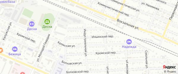 Ильинский переулок на карте Брянска с номерами домов