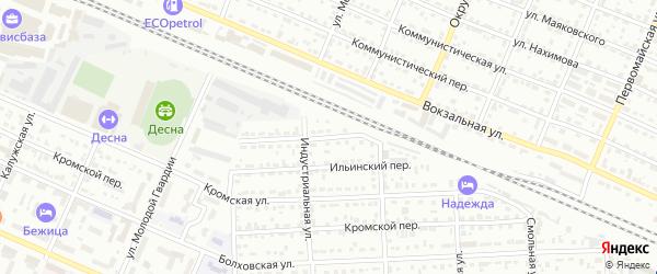 Ильинская улица на карте Брянска с номерами домов