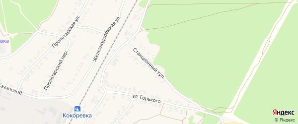 Станционный тупик на карте поселка Кокоревки с номерами домов