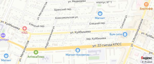 Улица Куйбышева на карте Брянска с номерами домов