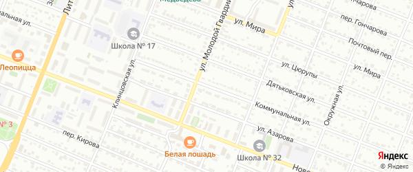 Коммунальная улица на карте Брянска с номерами домов