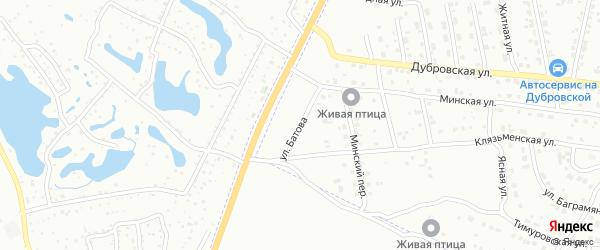 Улица Батова на карте Брянска с номерами домов