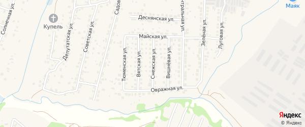Снежская улица на карте поселка Путевки с номерами домов