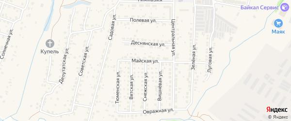 Майская улица на карте поселка Путевки с номерами домов