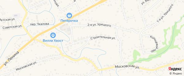 Строительная улица на карте села Супонево с номерами домов