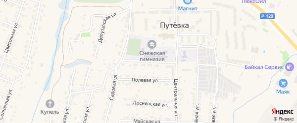 Школьная улица на карте поселка Путевки с номерами домов