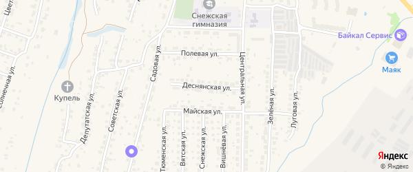 Деснянская улица на карте поселка Путевки с номерами домов