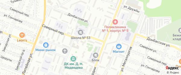 Северный переулок на карте Брянска с номерами домов
